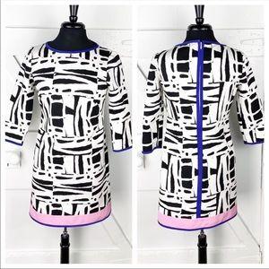 RE-POSH Per Se by Carlisle Abstract Shift Dress
